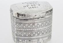 [nr.250] Loddereindoosje met spreuk - Ype Bruinings - 1846